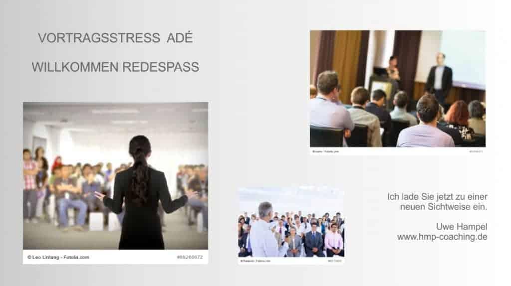 Adé Vortragsstress - Willkommen Redespaß