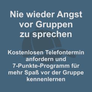 Nie wieder Angst vor Gruppen zu sprechen - kostenlosen Telefontermin mit Uwe Hampel anfordern